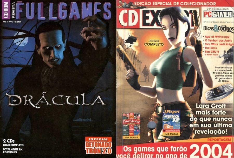 Fullgames e CD Expert eram algumas das revistas acompanhadas de jogos licenciados no início dos anos 2000.