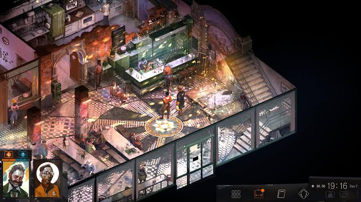 Os ambientes e personalidades presentes em Disco Elysium são ricos e impressionantes.