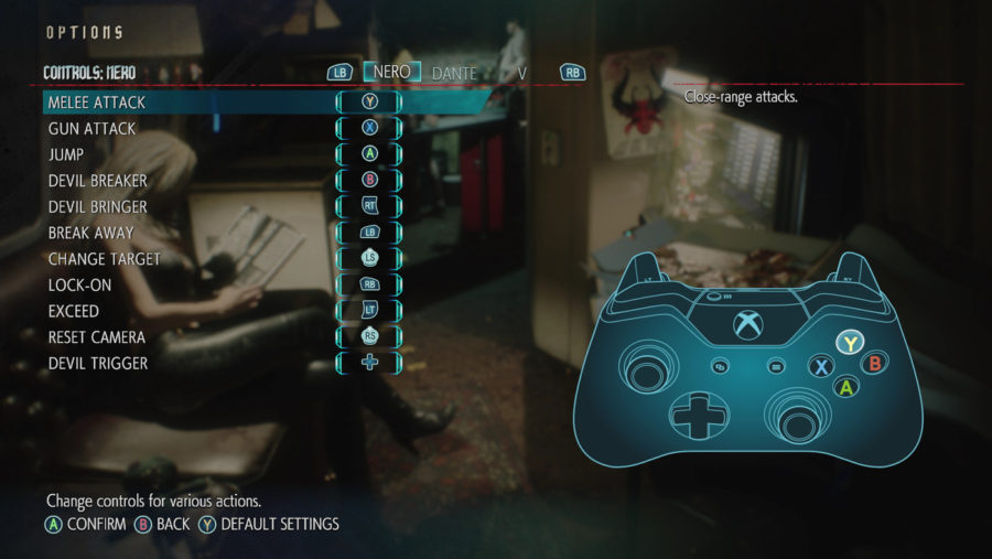 Os comandos de ataque nos botões de face do controle se tornaram padrão para esse tipo de jogo.