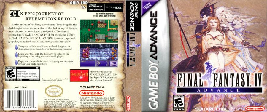 Capa da versão de Game Boy Advance de Final Fantasy IV.