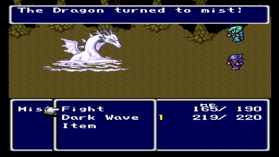 batalha contra o Mist Dragon.