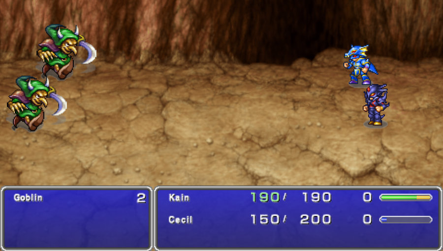 Batalha na versão de PSP