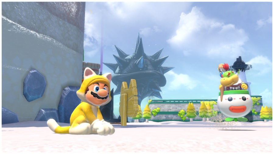 Será que Mario pode confiar em Bowser Jr. nessa missão de resgate?