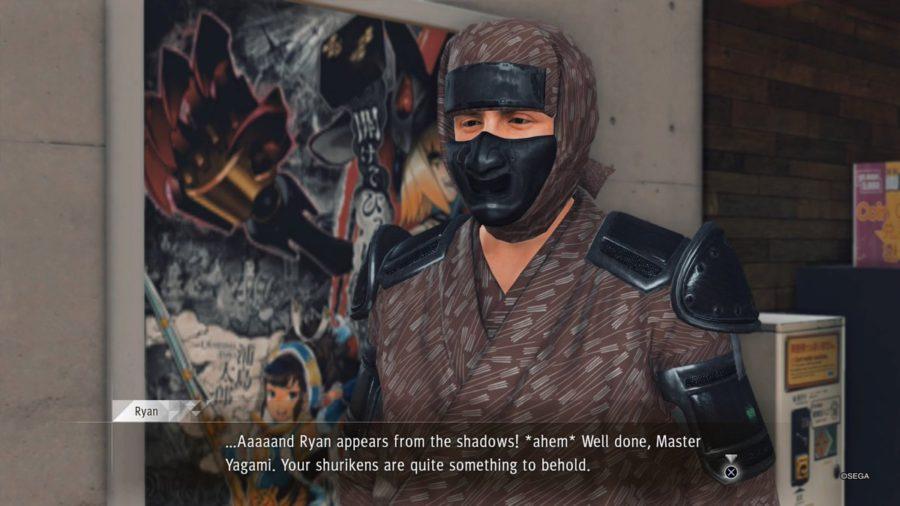 Que perigo um aspirante à ninja oferece frente à criminalidade de Kamurocho?