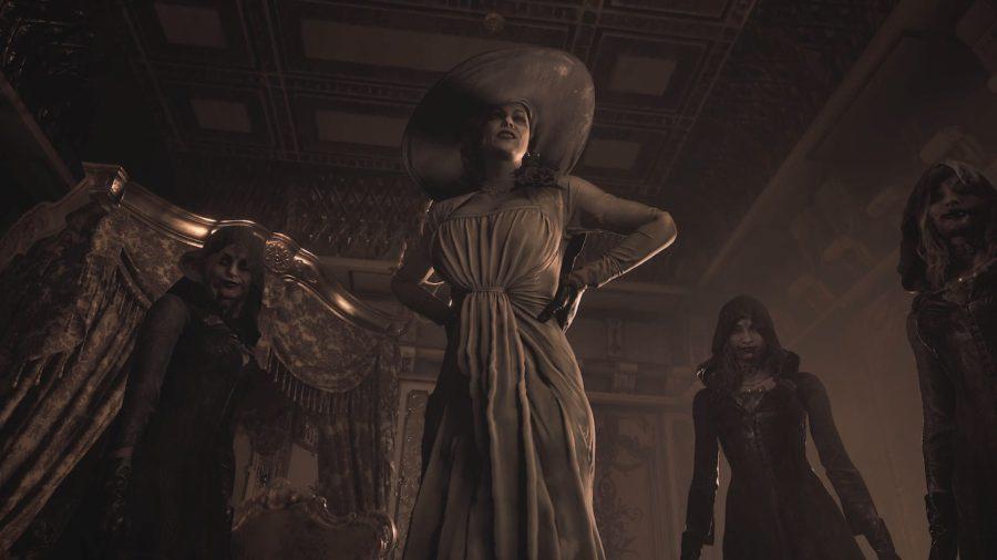 Alcina Dimitrescu e suas companhias adeptas do vampirismo.